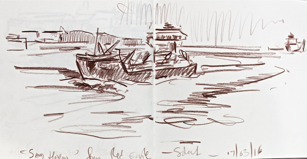 sketchbook study 50x25cm