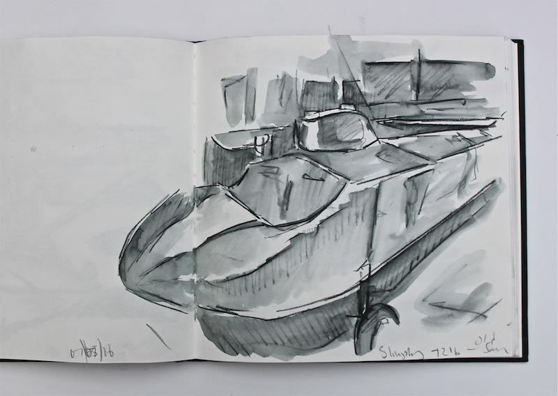 Old Sarum sketchbook study