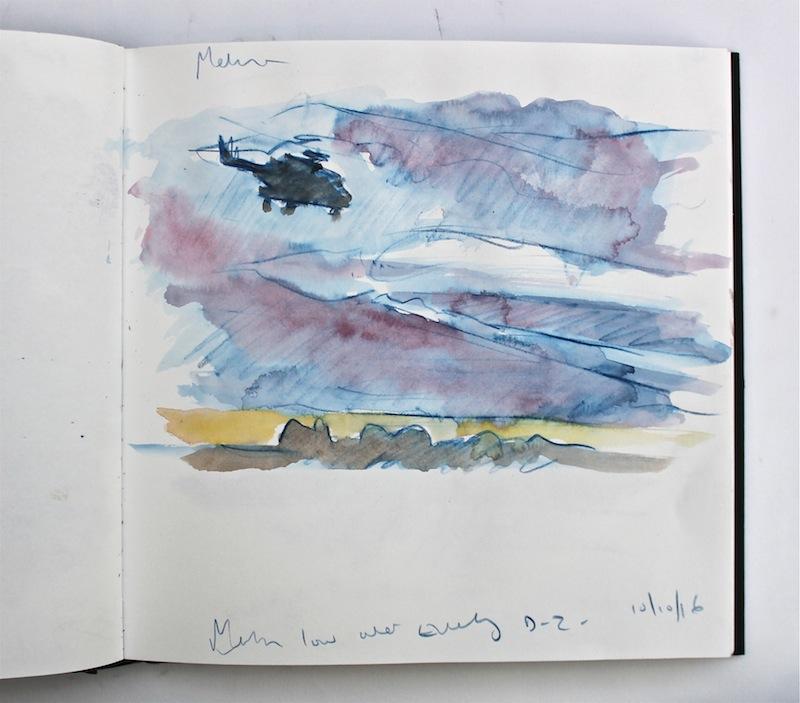 Dusk sketchbook study 25x25cm