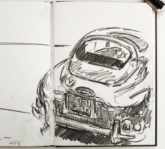 Sketchbook study 25x25cm